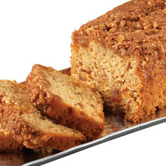Cinnamon Streusel Peach Coffee Cake