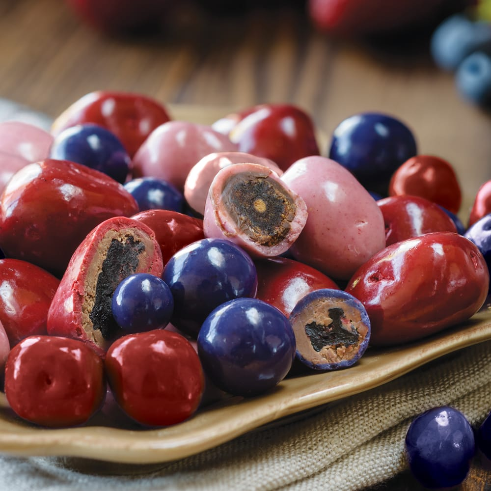 Double-Dipped Chocolate Covered Fruit Mix